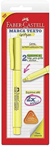 Caneta Marca Texto, Faber-Castell, Grifpen, SM/MTAMZF, Amarelo