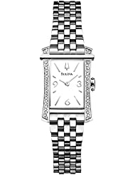 Bulova Diamond White Dial Stainless Steel Ladies Watch 96R186