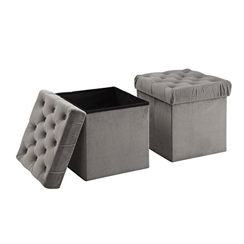 Christies Home Living Grey-OTT Toby Ottoman