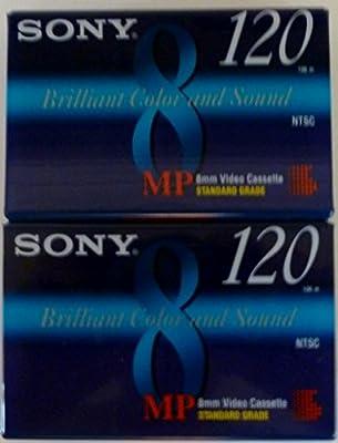 Sony MP 8mm Video Cassette Standard Grade 120 min (2 Pack) from Sony Electronics, Inc.