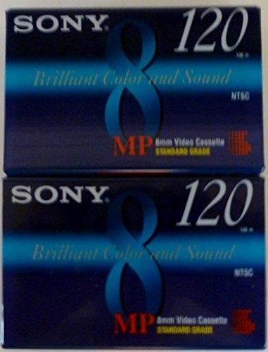 Sony MP 8mm Video Cassette Standard Grade 120 min (2 Pack) by Sony Electronics, Inc