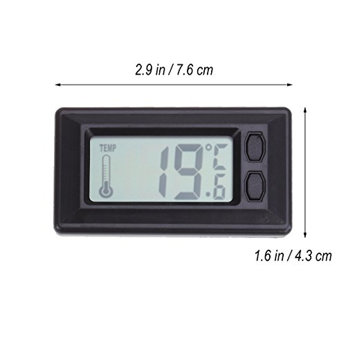 WINOMO Car Digital Thermometer Indoor LCD Temperature Gauge for Sedan SUV Truck Rv by WINOMO (Image #4)