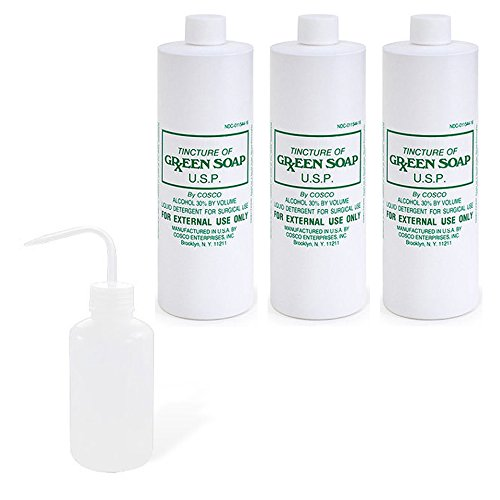 commart-3-pint-16oz-cosco-green-soap-tattoo-ink-stencil-wash-1-deffuser-squeeze-bottle-ships-from-us