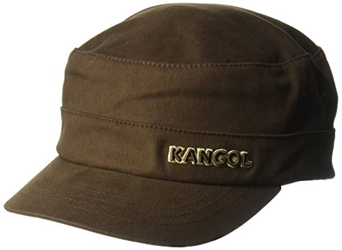 Adult Military Hat (Kangol Unisex-Adults Cotton Twill Army Cap, Brown, XXL)