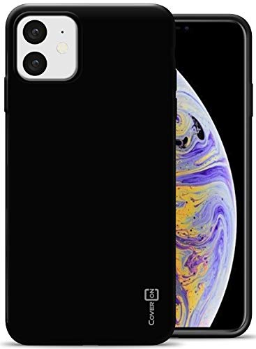 CoverON Extra Slim Fit TPU Rubber FlexGuard Series for iPhone 11 Case (2019), Black