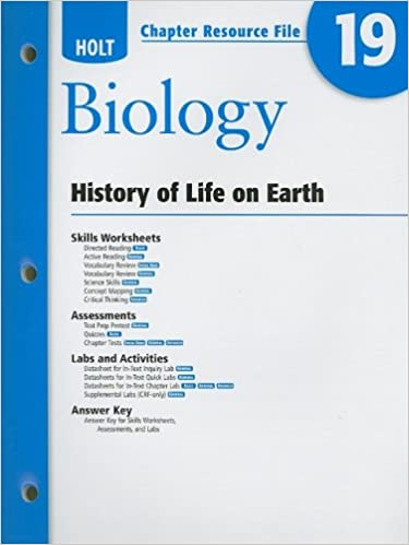 Holt Biology Chapter 19 Resource File History
