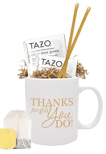 Set of 12 Thank You Tea & Honey Gift Mug/Best Thank you Gift Mug/Employee Appreciation Gifts/Admin Office Gifts/Teacher Thanks/Corporate Thank You Mugs/Business Mugs