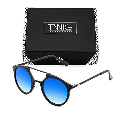 Azul DOYLE degradadas hombre espejo TWIG Degradado sol Gafas de Negro mujer ARxwZqFzO