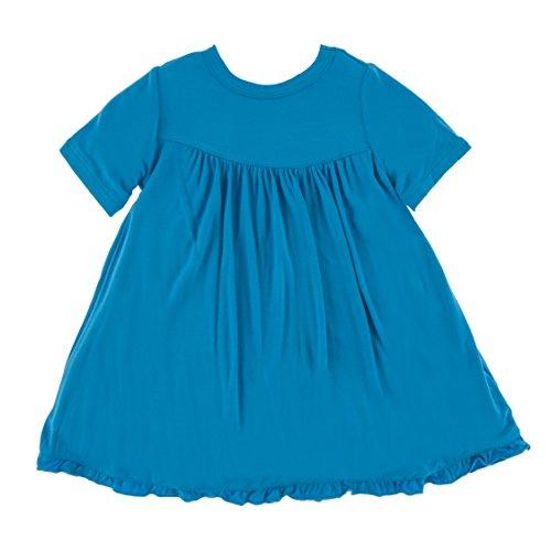 Kickee Pants Little Girls Solid Classic Short Sleeve Swing Dress, Amazon, 2T