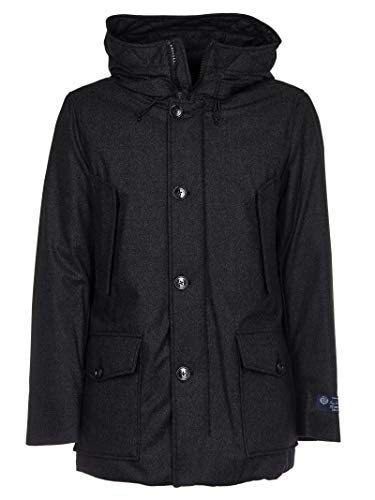 Tweed Woolrich Charcoal Parka Mountain Grigio wqg0T