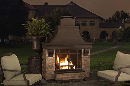 Sunjoy Jasper Wood Burning Fireplace Large