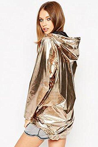 Mujer Abrigo Abrigo Abrigo para para VILIER Mujer VILIER Dorado VILIER Dorado WAR1AqXr