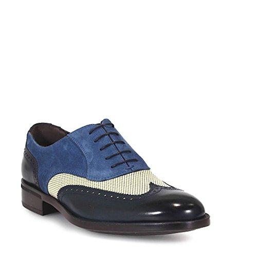 Moreschi In Pelle Brogue Lace-up Shoes Uomini Tre Colori