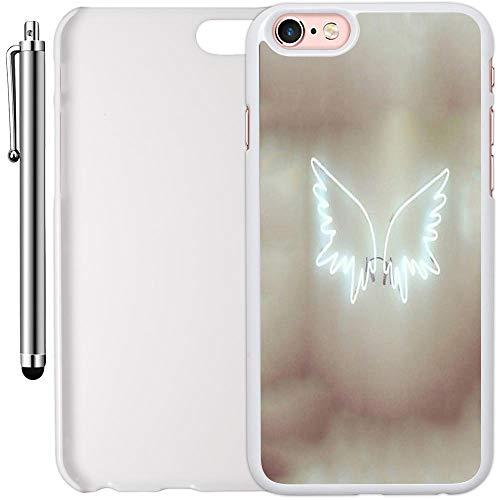 innosub - Carcasa de plástico para iPhone 6 Plus y 6S Plus (5,5 Pulgadas), diseño de alas de ángel, Color Blanco