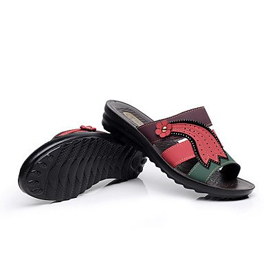 Wome's Boots Invierno Mary Jane PU Casual tac¨®n de cu?a hacia abajo US9 / EU40 / UK7 / CN41