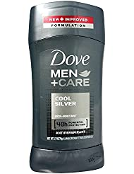 Dove Men + Care Antiperspirant & Deodorant, Cool Silver 2.70 oz (Pack of 2)