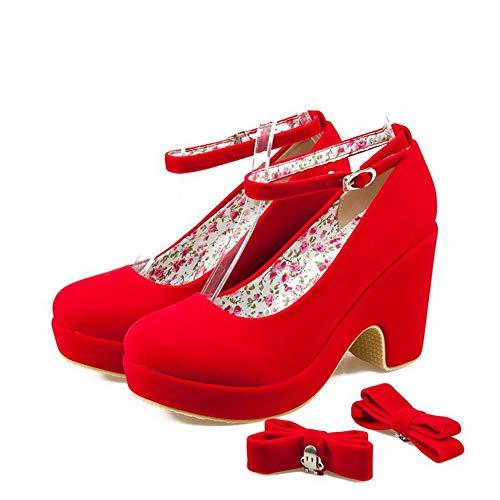 SDC05765 5 Plateforme Red EU Rouge Femme AdeeSu 36 CTaxSda