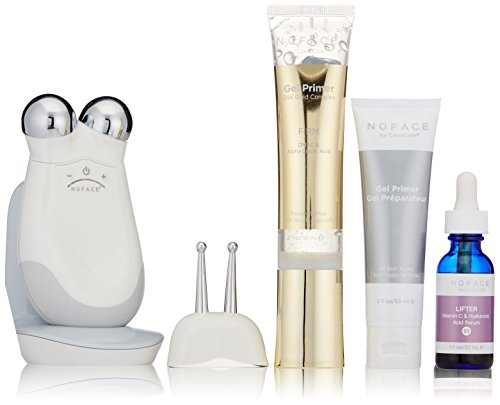 NuFACE Haute Contour Trinity Facial Toning Set | Wrinkle Reducer, Face Lift Microcurrent Technology | Kit Includes Device, Gel Primer, Lifter Serum | FDA Cleared At Home System
