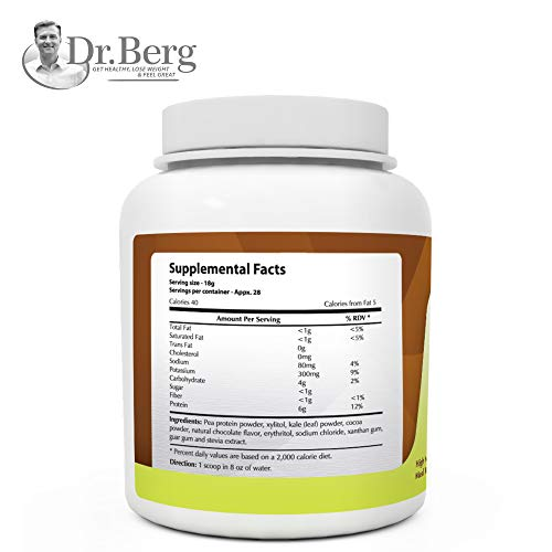Instant Chocolate Kale Shake – High Quality Protein Powder – Weight Loss Shake – Meal Replacement By Dr. Berg (504 Grams) by Dr. Berg's Nutritionals (Image #5)