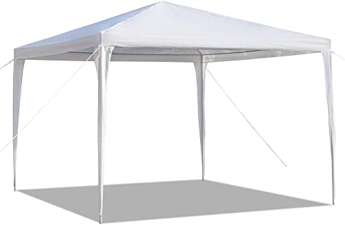 Yuehang Outdoor 10x10ft Canopy Tent, Portable Gazebo Canopy Tent for Party Wedding Commercial Waterproof, UV Protection Shelter, Removable Sidewalls, Upgraded Spiral Tube White