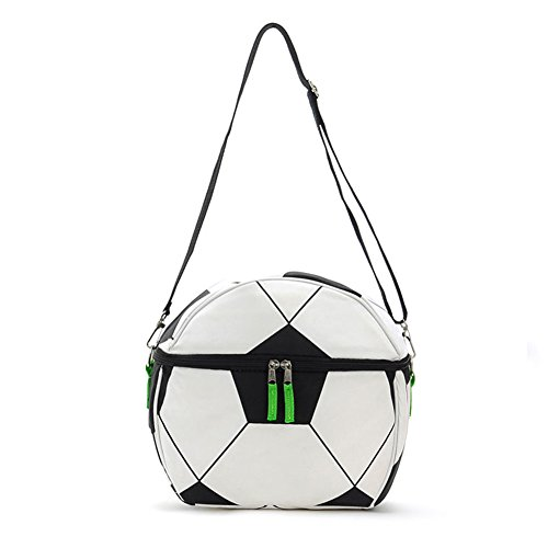 CODOHI Soccer Insulated Lunch Bags Cooler Lunchbox for Kids School Picnic With Shoulder Strap by CODOHI