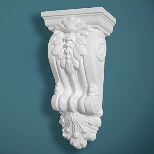 Plaster Corbel Acanthus Scroll Height 260mm - Width 1127mm Handcrafted in Yorkshire Bespoke Plaster Mouldings Ltd