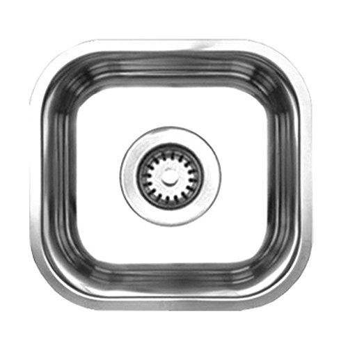 Whitehaus Collection Noahs Collection Brushed Stainless Steel single bowl undermount sink-Brushed Stainless Steel-WHNU1212 , Bathroom plumbing fixtures & sinks