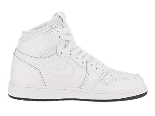 Nike Air Jordan 1 Retro High OG, Scarpe da Ginnastica Uomo Bianco-nero