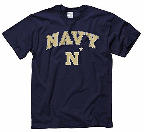 Campus Colors Navy Midshipmen Arch & Logo Gameday T-Shirt - -