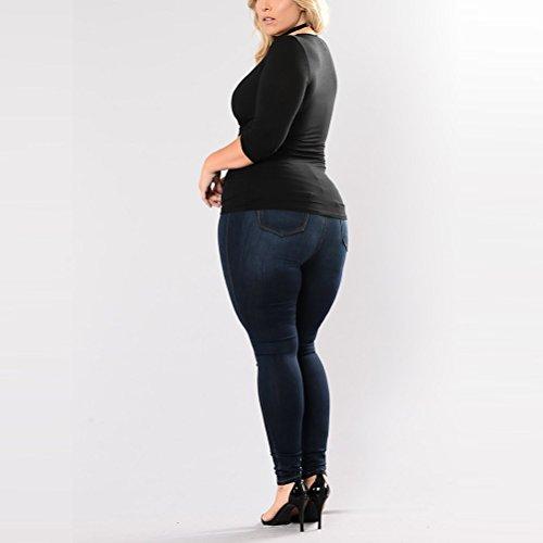 Eleganti Sottile Curve 1 Magro Zhhlaixing Allungare Jeans Donna Stretti Per Elegante Xxxxxl Vita Blue Pantaloni Alta ZZqI0v