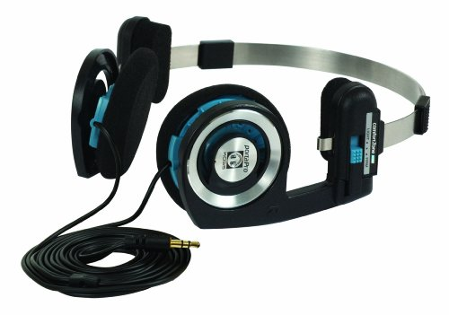 Koss Porta Pro On Ear Headphones with Case, Black/Silver