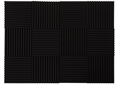 "Daoe Soundproofing Acoustic Panels Studio Foam Wedges 1"" X 12"" X 12"" - 12 Pack by Daoe"
