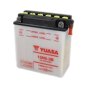 12N5-3B 12V 5Ah Yuasa Motorcycle Battery