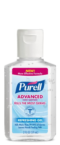 PURELL Advanced Hand Sanitizer, Refreshing Gel, 2 fl oz Port