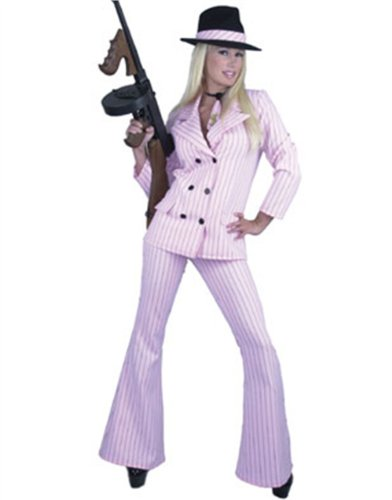 Charades Women's Gangster Moll Suit Costume Size Women's X-Large 18-22 -