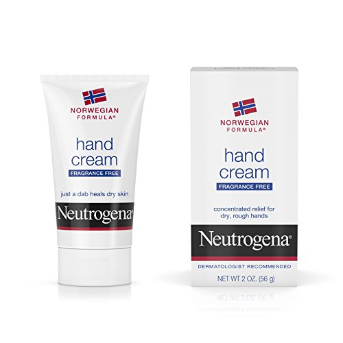 Neutrogena Norwegian Formula Moisturizing Hand Cream Formulated with Glycerin for Dry, Rough Hands, Fragrance-Free Intensive Hand Cream, 2 oz (Pack of 6) by Neutrogena