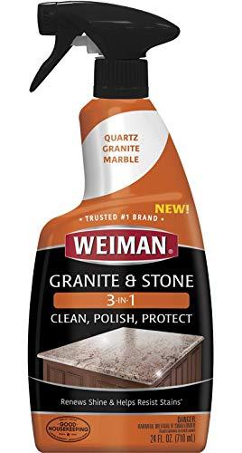Weiman Granite Stone Polish - 24 Ounce - Streak-Free, pH Neutral Formula -