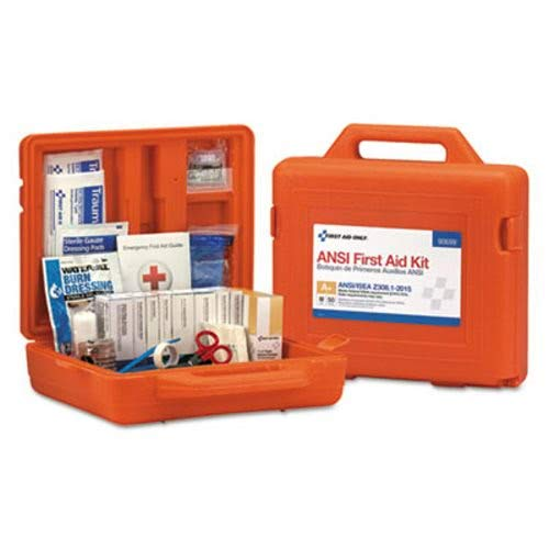 (First Aid Only 90699 ANSI Class A+ First Aid Kit for 50 People, Weatherproof, 215 Pieces)