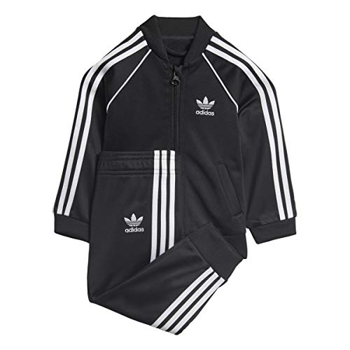 (adidas Originals Baby Infant Originals Superstar Tracksuit, Black, 2T)