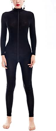 Amazon.com: Zukzi Womens Zipper Front Long Sleeve Full ...