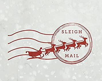 North Pole Self Inking Card Stamp