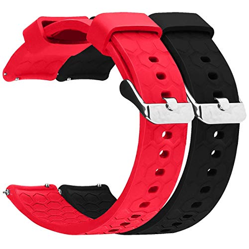 ECSEM 2pcs 20mm Replacement Bands Straps for Samsung Gear S2 Classic Smartwatch (SM-R732) and (SM-R735T), E