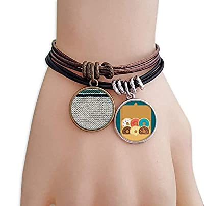 SeeParts Fabric Flax Knit Gray Abstract Bracelet Rope Doughnut Wristband Estimated Price £9.99 -