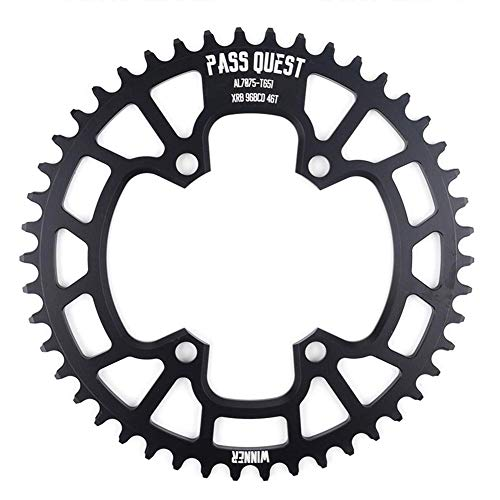 Beautylady 96 BDC 46T Narrow Wide Chainring with 4 PCS Chain Ring Bolts Fit for Most Bicycle M7000/ 8000/9000