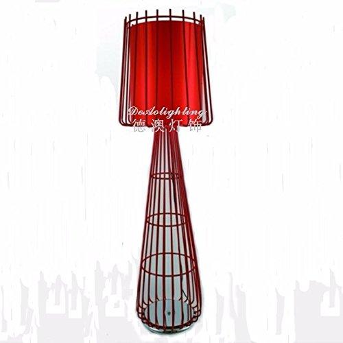 Moderne und Minimalistische Bügeleisen leuchten kreative Arbeits-/Schlafzimmer Wohnzimmer hotel Halle Stehleuchte, rote Stoffe