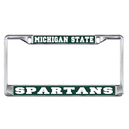 (MSU NCAA Michigan State University Spartans Chrome License Plate Frame)