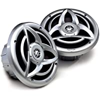 Kicker 06KM620 Marine Coaxial Speakers with 20mm Tweeter