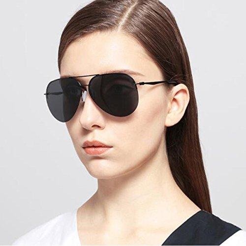 Gafas Reflectante LQQAZY Marea Femenina Marco Espejo Clásico Ligero Gafas Hombres Polarizadas Gafas Sol Blue Sin De De Color Película Sol Silver EECw8q