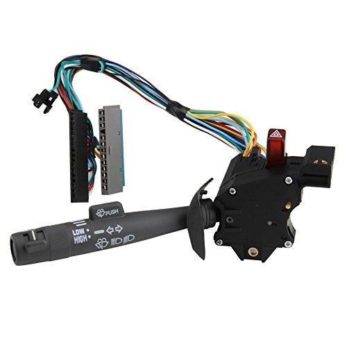 Radracing 26100985 Multi-Function Combination Switch Turn Signal Wiper Washers Hazard Cruise Control for Chevy Blazer Tahoe Suburban GMC Yukon Replaces 26047330 26054725 26054727