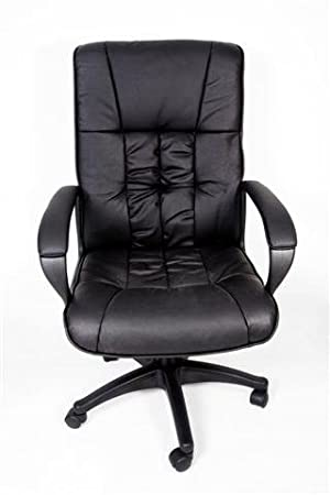 high back executive leather office chair lumbar support amazon co
